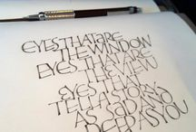 letters in pencil writing