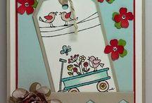 For the Birds - Stampin' Up! / Inspiratie kaarten met de stempelset For The Birds