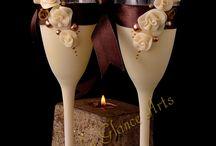 esküvőre pohár