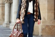 Furs & Biker jackets, so loving this look right Now!! / Must have for Autumn/winter 2014