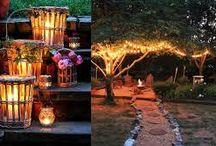 Pięknie i oryginalnie oświetlone ogrody.