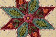 """QUILTMANIA Block of the month La Fée Pirouette """"Colmar"""" 2015 / find all the blocks in the QUILTMANIA Magazine in 2015 http://www.quiltmania.com/english/navigation-colonne-gauche/rubriques/la-fee-pirouettes-mystery-quilt-2015-gb.html"""