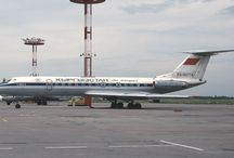 Civil Russian aircraft tu-134
