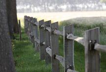 barrière, allées et haies