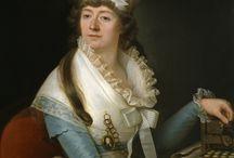 Miniatures in Art / Oil portraits of XVIII- XIX centures with models having a  miniature