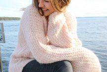 Pudderrosa genser / Skappelstrikk