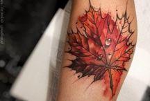 tattoo daun 3D ilustrasi