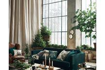 vihreä olohuone