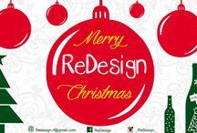 """• Merry ReDesign Christmas • / Il Natale si avvicina e, con quello, anche il fatidico giorno dello """"scambio dei regali""""! e allora perché non far trovare sotto l'albero di amici e parenti un oggetto di design in stile natalizio, interamente fatto a mano?   Vi presentiamo la nostra prima collezione natalizia."""