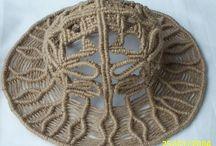 chapéu e blusas macrame