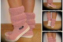 Uki-macrame-Summer-100% cotton crochet boots / Handmade crochet summer boots