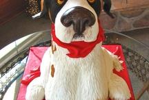 Dog Themed Cakes / Puppy, dog, pet, animal, cute, cake, dalmatian, cupcake, paws