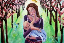 ilustraciones maternidad, maternity illustrations