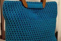 Bolso azul ctochet