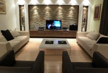 Fire place feature wall