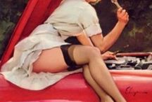 Vintage Pin-ups and Cars