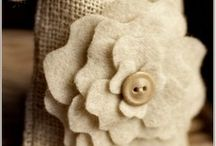 burlap decor / by Emese