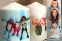 Fotos auf der Kerze