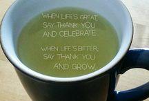 Tea and Positif Thinking !