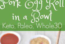 Keto pork egg roll