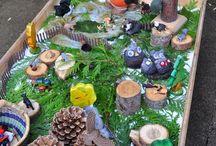 летний макет из природного материала