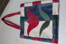 Tassen maken / Diverse tassen van lapjes leer