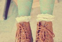 Botas y calcetines vintage / Vintage