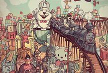 Jared Muralt / Gallery di un talentuoso illustratore svizzero: Jared Muralt Link: http://jaredillustrations.ch  www.behance.net/Jaredillustrations  http://instagram.com/jaredmuralt