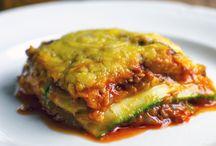 Lasagne van qourgeten andere groente er bij