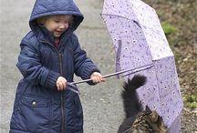 Enfants et chats