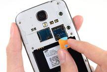 Montering/demontering av Samsung Galaxy S4 SIM-kort