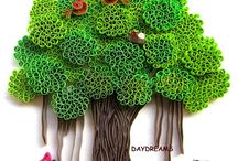 Quilled banyan tree