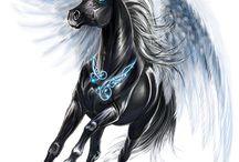 pegasus hester som er på nettstallen