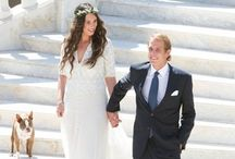 Tatiana Santo Domingo bride in Missoni / Heiress Tatiana Santo Domingo got married with Andrea Casiraghi in Monaco wearing a Missoni dress specially designed for her / by Missoni