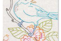 Kuş motifli pano şeması
