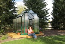 Grandio Element Greenhouses - Coming Fall / Winter of 2015! / Grandio Element Greenhouses are offered in 6x4 and 6x8 with 10mm twin wall panels and a 6 foot door height. Same frame work as the Grandio Elite but in the A-Frame Design.