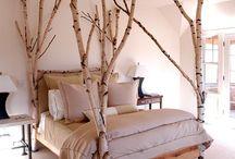 muebles con ramas y troncos