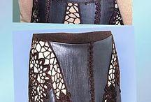 вязание-комбинирование с кожей, тканью