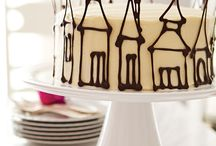 Cake chocolate decoration