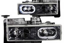 Anzo 111005 - Headlights - Crystal Carbon With Halo