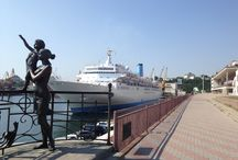 """Thomson Spirit in Odessa. June and July 2015. / Thomson Spirit called on Odessa in June & July 2015 as part of its 7 Night Highlights of the Black Sea cruise.  We are excited to see her back in the Black Sea in August! We'll be doing group walks on this day and the private shore tour """"The Undiscovered Odessa"""", which includes seeing most of the city's must see sights, some less touristy areas, a visit to the local market and an exclusive tour of the National Opera and Bullet theater. Join us! To find out more, email us at info@odessawalks.com"""