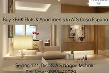 buy 3BHK Flats & Apartments / ATS #CasaEspana township is located in Sector-121, #Mohali, #Chandigarh.To Book your flat call at : 9888449029