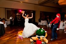 Super Mario Bros Wedding Inspiration / Super Mario Bros wedding inspiration, surprise dance, mario, princess peach, king koopa, bowser, skit, wedding surprise, first dance, geek wedding
