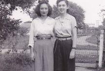 Vintage Friends / Women with women, from bygone eras.