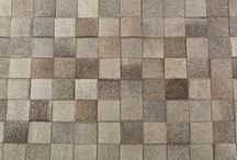 """Ricardo"" Rug / Made of leather pieces in various colors"