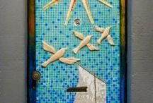 #Mosaic door#