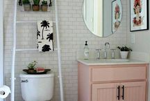 The bathroom: lavender coziness