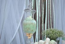 ~Mint outdoor decoration~ / Δεξίωση αρραβώνα στο χρώμα της μέντας.
