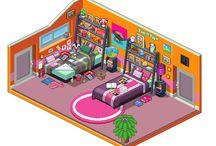cartoon room design/cartoons