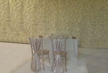 Ivory Flower Wall Backdrop / Our stunning ivory flower wall backdrop is 6m long x 2.5m tall perfect for your ceremony or top table.   £750 to hire within 15 miles of St. Albans dressityourself@gmail.com 07921 070 990